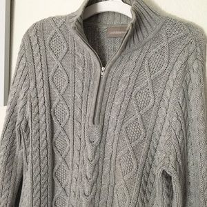 Croft & Barrow Gray Cable Knit Sweater